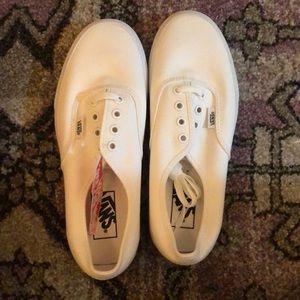 Vans Shoes - True White Lace Up Vans